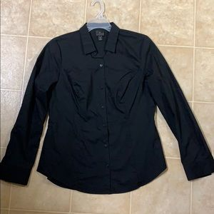 Black button down blouse small 6